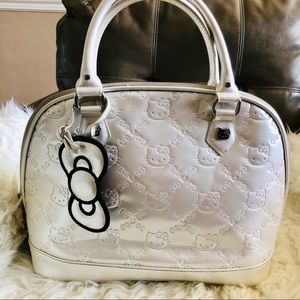 Hello Kitty Embossed Vernis Style Bag